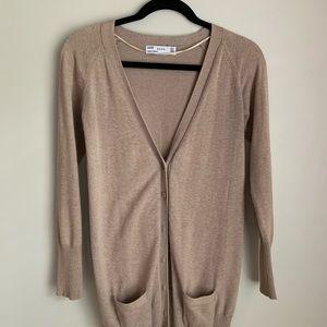 Zara tan cardigan, size medium